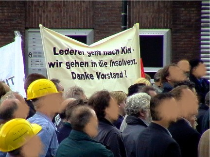 Babcock Mitarbeiter - Protest Demo in Duesseldorf